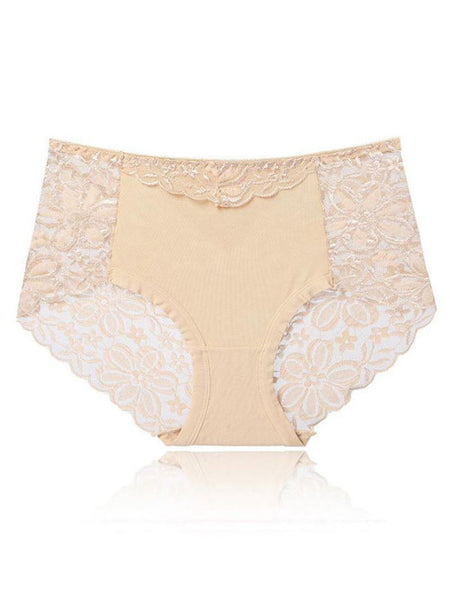 Lace Cotton Comfortable Underpant - Bychicstyle.com