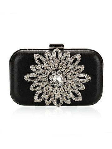 Faux Crystal Pu Evening Clutch Bag - Bychicstyle.com