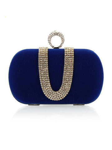 Casual Rhinestone Chain Evening Clutch Bag