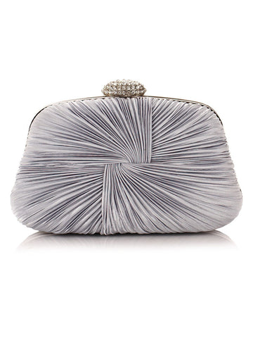 Casual Pleated Design Evening Clutch Bag