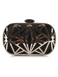 ByChicStyle Gold Geometric Chain Evening Clutch Bag - Bychicstyle.com