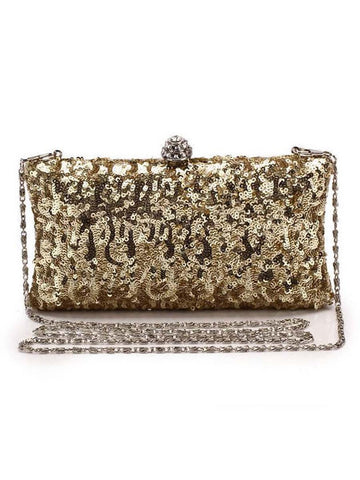 Luxurious Glitter Evening Chain Clutch Bag - Bychicstyle.com