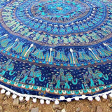 ByChicStyle Casual Boho Totem Print Round Beach Blanket