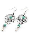 ByChicStyle Vintage Ethnic Turquoise Hollow Carved Water Drops earrings
