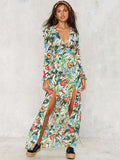 ByChicStyle Bohemia Floral Split-side Maxi Dress