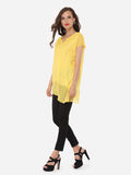 ByChicStyle Casual Round Neck Dacron Hollow Out Plain Blouse