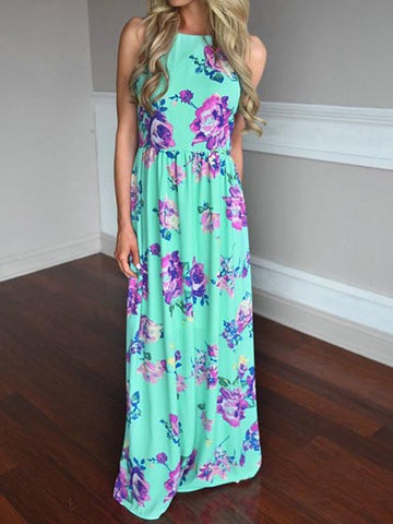 Casual Here Comes The Beauty Floral Print Maxi Dress