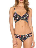 ByChicStyle Casual Vintage Cross Floral Print Bikini Set