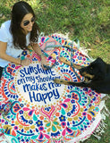 ByChicStyle Casual Sunshine Sweet Kiss Tassels Beach Blanket