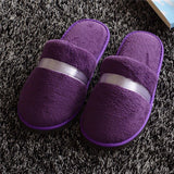 ByChicStyle Stripe Color Match Flat Slip On Indoor Home Slippers