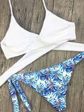 ByChicStyle Casual Cross Me Floral Print Tie Side Bikini Set
