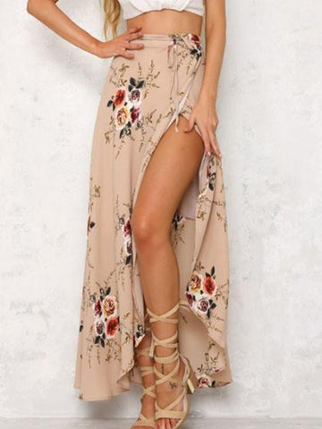 Casual Boho Multi color Floral Print Bohemian Style Dress