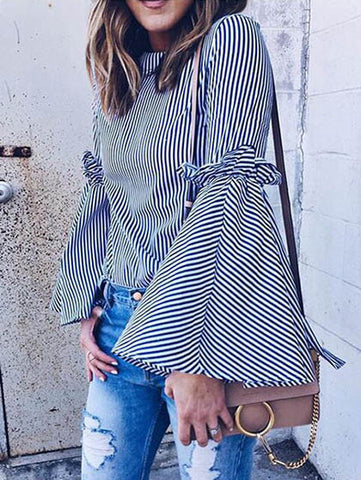 Casual Love in Paris Striped Top