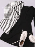 ByChicStyle Lace Patchwork Concise Crew Neck Skater-dres - Bychicstyle.com