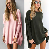 ByChicStyle Casual Women Long Tops Autumn and Winter Long Sleeve Loose Blouse