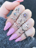 ByChicStyle 2 Styles Bohemian Vintage Silver Plated Rings Accessories