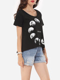 ByChicStyle Casual Assorted Colors Printed Modern Delightful Round Neck Short-sleeve-t-shirt