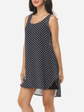 ByChicStyle Casual Polka Dot Round Neck Shift Dress