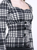 ByChicStyle Sweet Heart Plaid Bodycon Dress - Bychicstyle.com