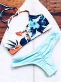 ByChicStyle Casual Sexy Floral Print Bathing Suit Bikini Set