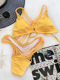 ByChicStyle Casual Hand Made Two Piece Lace Up Bikini Set