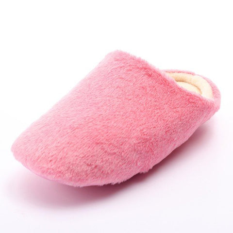Casual Unisex Warm Winter Pure Color Soft Indoor Slipper Flat Home Shoes