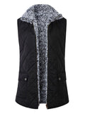 ByChicStyle Womens Warm Sherpa Fleece Zip Up Reversible Vest Female Sleeveless Lightweight Fashion Jacket Outwear With Pockets