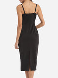 ByChicStyle Spaghetti Strap Plain Little Black Cocktail-Dress - Bychicstyle.com