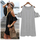 ByChicStyle Casual Sexy Women New Sexy Off Shoulder Casual Bodycon Bandage Party Evening Mini Dress