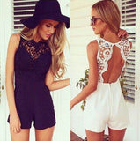 ByChicStyle Casual Women Sexy Celeb Lace Playsuit Party Evening Summer Ladies Dress Shorts Jumpsuit