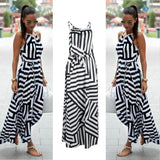 ByChicStyle Casual Women Sexy Summer Dress Boho Maxi Long Evening Party Dress Beach Dress Sundress