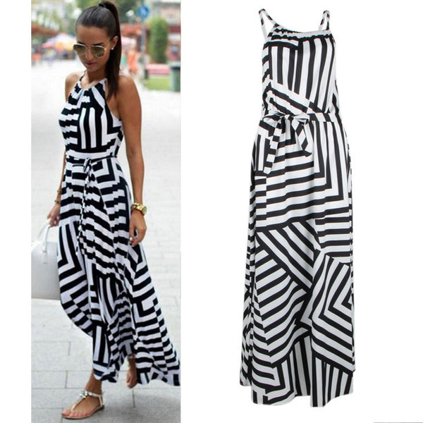 Casual Women Sexy Summer Dress Boho Maxi Long Evening Party Dress Beach Dress Sundress