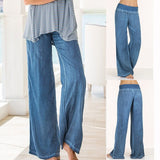 ByChicStyle Casual Women's Fashion Sexy Loose Long Pant Sexy Pure Color Linen Yoga Home Trousers