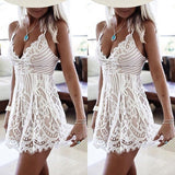 ByChicStyle Casual Women Summer Sleeveless Lace Casual Evening Party Cocktail Short Romper Jumpsuit