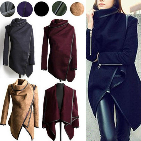Spring Long Colored Trench Coat Women Cashmere Overcoat Full Size Women Coats
