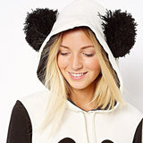 ByChicStyle Women Cute Panda Thin or Thick Warm Hoodie Pullover Hooded Coat Jacket Sweatshirt