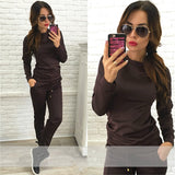 ByChicStyle Women New Sports Suits Woman Sportwear Suit Tracksuits T-shirt 2 Pcs Set Casual Sweatshirt
