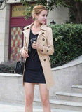 ByChicStyle Casual Long Slim Windbreaker Casual Trench Coat,Check & Buy Larger Size Please(S-XXL)