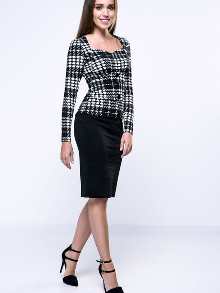 Sweet Heart Plaid Bodycon Dress - Bychicstyle.com