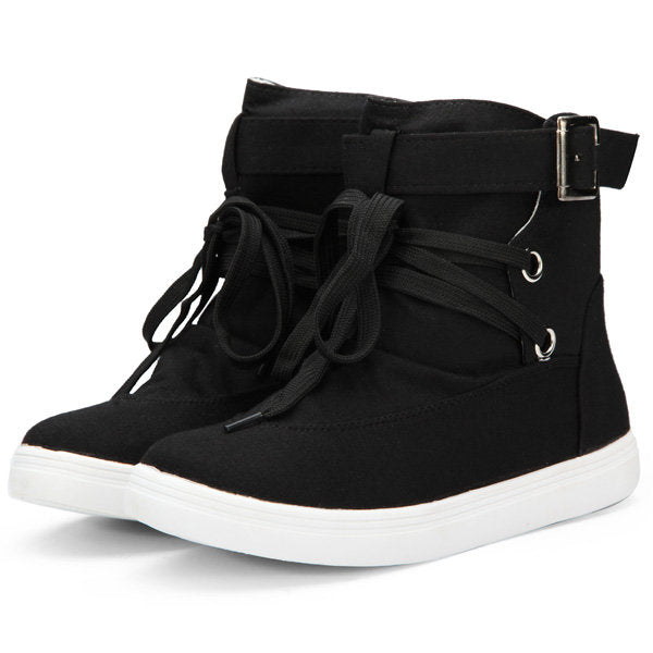 Casual Women Casual Canvas Shoes Trainers Ankle Boots