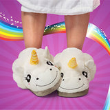 ByChicStyle Casual Unicorn Winter Faux Fur Plush Cartoon Cosplay Indoor Flats Home Shoes