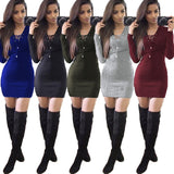 ByChicStyle Casual Autumn and Winter Sexy Pit dress