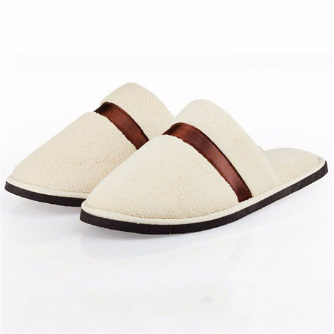 Stripe Color Match Flat Slip On Indoor Home Slippers