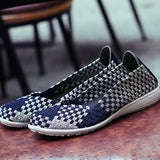 ByChicStyle Casual Knitting Woven Wedge Heel Elastic Casual Shoes