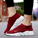 ByChicStyle Casual Large Size Mesh Woven Breathable Platform Casual Trainers