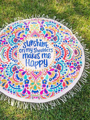 Casual Sunshine Sweet Kiss Tassels Beach Blanket