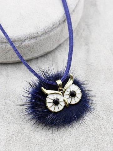 Cute 6 Colors Bohemia Owl Necklaces Accessories