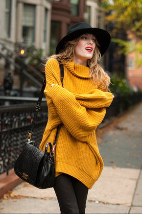 Casual Winter Warm Turtleneck Knitted Sweater
