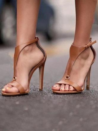 Simple Open Toe Sandal High Heels