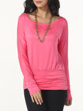ByChicStyle Round Neck Plain Long-sleeve-t-shirt - Bychicstyle.com